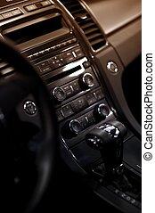 Car Dash. Modern Vehicle Dashboard - Central Console...