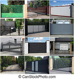 collection of metal gates