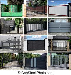 cobrança, metal, portões