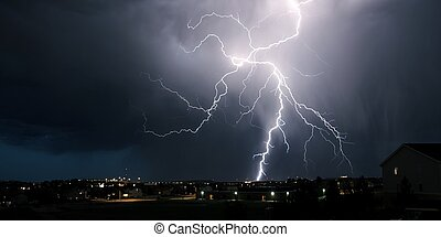 Extreme Weather - Summer Lightning Storm Over Colorado....