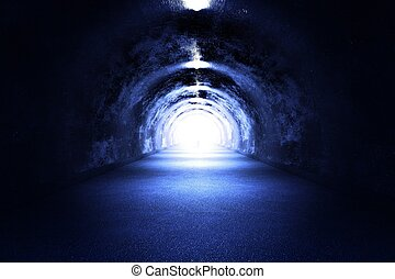 Tunnel Light - 3D Render Cool Blue Light The Road to the...