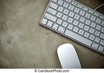 Keyboard and Mouse - Modern Keyboard and Mouse - Wood...
