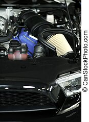 Sport Vehicle Air Filter - Muscle Car Under the Hood....
