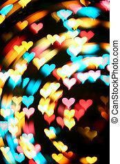 motion heart - motion colored heart - abstract love...