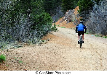 Bike Ride. Bike Ride on the Mountain Trail. Colorado USA