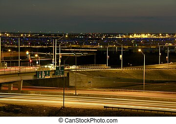 Airport and Highway Traffic Long Exposure Photography...