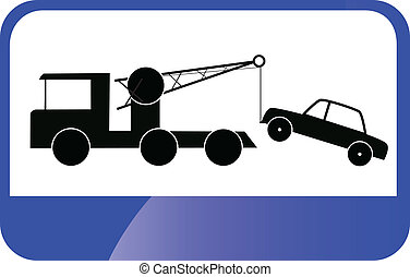 Traffic Sign - Tow Car