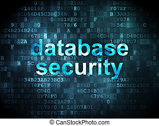 Protection concept: Database Security on digital background...