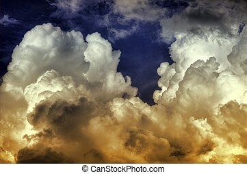 Exploding Storm HDR (High Dynamic Range) Photo. Beautiful...