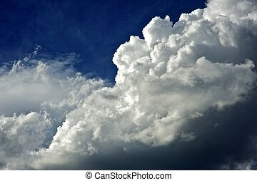 Stormy Cloudscape Horizon - Nature / Sky Background. Nature...