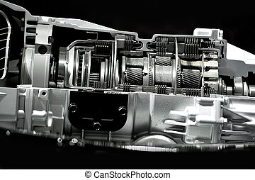 Automatic Transmission / Gearbox Section. Inside Modern...