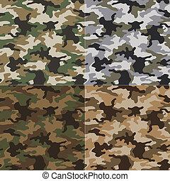seamless, camuflagem, Padrão