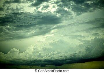 Dramatic Sky. Stormy Day