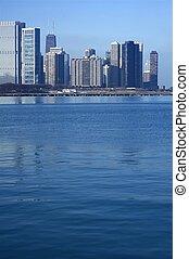 Lake Michigan Skyline - Lake Michigan and Chicago Part of...