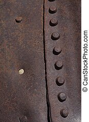 Corroded Metal Background - Metal Texture. Old Rivets.