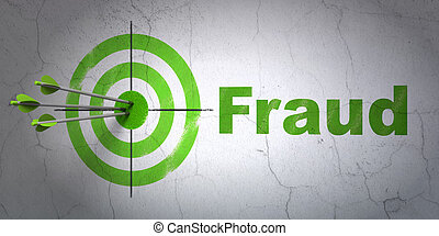 Privacy concept: target and Fraud on wall background -...
