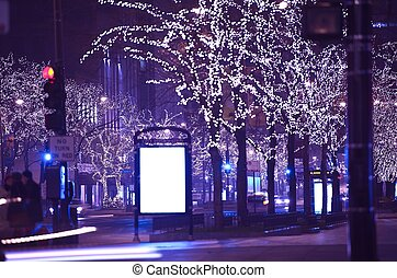 Holidays in Chicago. Christmas-Thanksgiving Michigan Ave...