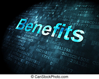 Business concept: Benefits on digital background - Business...