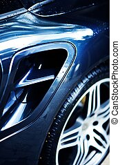 Sporty Alloy Wheel - Fast Sport Car Closeout - Vertical...