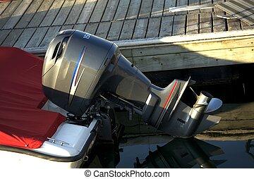 Motorboat Engine - Small Motorboat Engine - Boat Propeller
