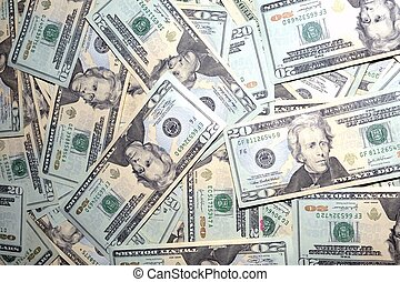American Dollar Bills Photo Background. Cash Background