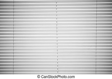 Window Blinds - White Plastic Horizontal Window Blinds...