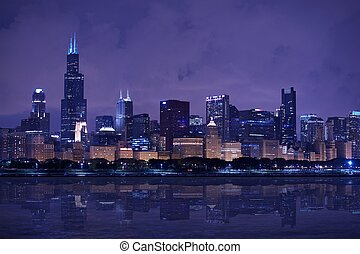 Chicago Skyline Panorama - Chicago Skyline East Side - Lake...