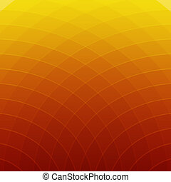 Abstract orange and yellow round lines background - Abstract...