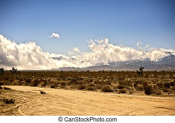 Sierra Nevada Mountains and Desert. California USA