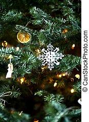 Christmas Tree Deco - Christmas Tree in Closeup Vertical...