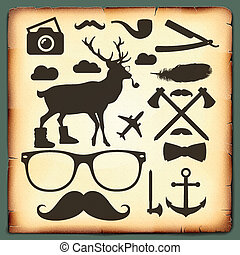 Hipster style infographics elements for retro design