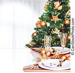 Christmas dinner border - Christmas dinner decoration, fresh...