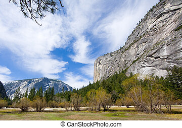 Rocky Mountain - Rocky montains as seen in the Yosemite...