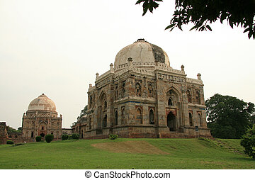 Ancient Architecture - Lodi Garden, Delhi, India - Ancient...