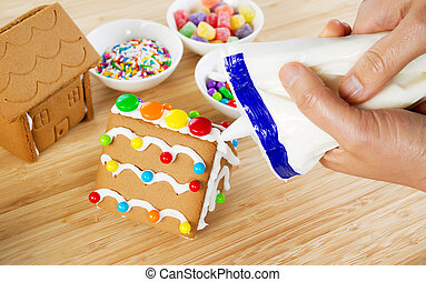 Making Gingerbread Houses for the Holiday Season -...