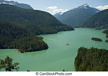 North Cascades Diablo Lake - North Cascades National Park,...