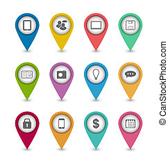 Group business pictogram icons for design your website -...