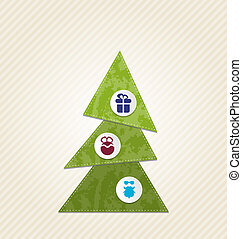 Christmas tree with infographics, minimal style -...