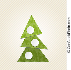 Christmas abstract tree, minimal style - Illustration...