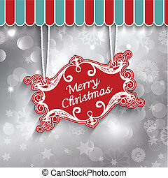 Christmas sign background - Decorative Christmas sign on a...