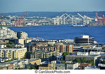 Seattle Harbor - Seattle Panorama. Washington State...