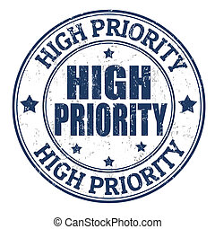 High priority stamp - High priority grunge rubber stamp on...