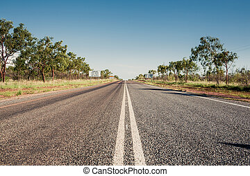 Road in Queensland, Australia - View of empty road in...