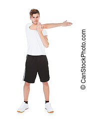 Young Man Stretching