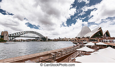 Sydney Harbour Bridge - View of Sydney Harbour Bridge,...