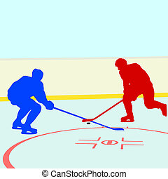 Ice hockey players Vector illustration