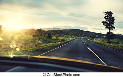 Road in Queensland, Australia - Empty road in Queensland at...