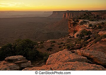 Sunset in the Canyonlands National Park, Utah, U.S.A....