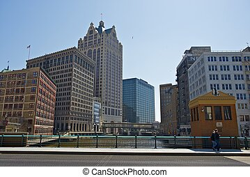 Milwaukee Wisconsin - Downtown of Milwaukee Wisconsin...