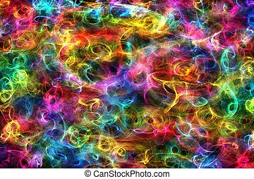 Colorful Abstract Fumes / Flames Background Illustration.